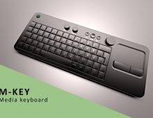 Media keyboard with analog controls